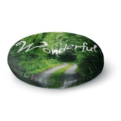 Chelsea Victoria Wonderful Nature Round Floor Pillow Size: 26 x 26