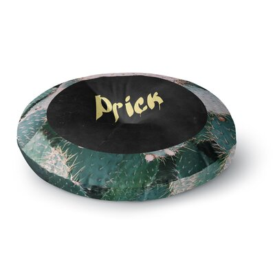 Chelsea Victoria Prick Typography Round Floor Pillow Size: 26 x 26