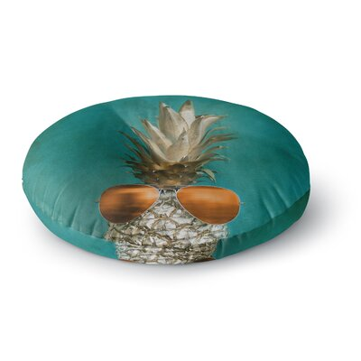 Chelsea Victoria 24 Karat Pineapple Digital Round Floor Pillow Size: 26 x 26