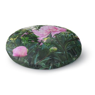 Chelsea Victoria Peonies Floral Round Floor Pillow Size: 26 x 26