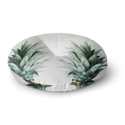 Chelsea Victoria Two Pineapples Round Floor Pillow Size: 23 x 23