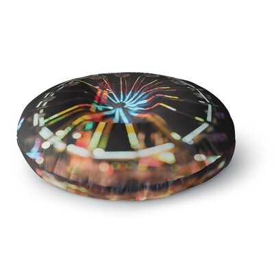 Chelsea Victoria Night Lights Urban Photography Round Floor Pillow Size: 26 x 26