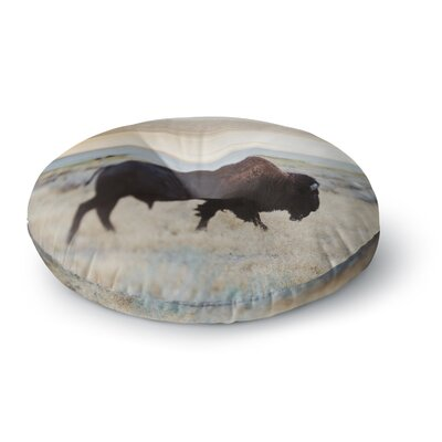 Chelsea Victoria Buffalo Bill Nature Photography Round Floor Pillow Size: 26 x 26