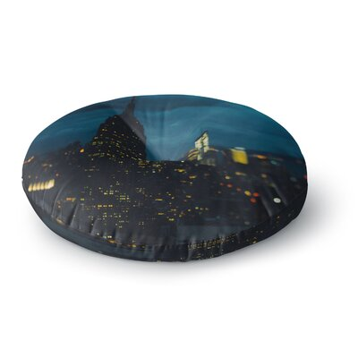 Chelsea Victoria New York Nights Photography Round Floor Pillow Size: 23 x 23