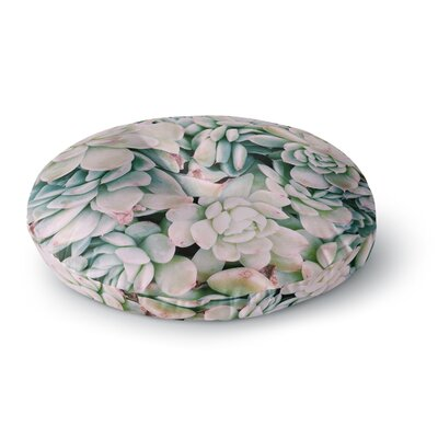 Chelsea Victoria Succulent Blush Photography Round Floor Pillow Size: 26 x 26