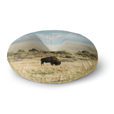 Chelsea Victoria Bison Americana Photography Round Floor Pillow Size: 26 x 26