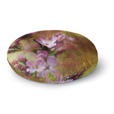Ginkelmier Lilacs Floral Round Floor Pillow Size: 23 x 23