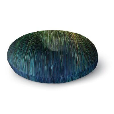 Ginkelmier Planet Pixel Billboard Digital Round Floor Pillow Size: 26 x 26