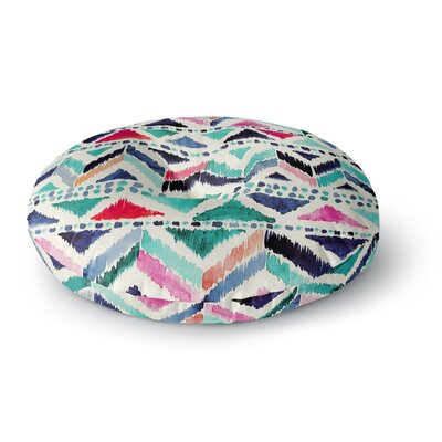 Crystal Walen Celestial Tribal Stripe Chevron Round Floor Pillow Size: 26 x 26