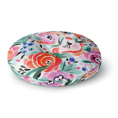Crystal Walen Boho Morning Glory Round Floor Pillow Size: 26 x 26