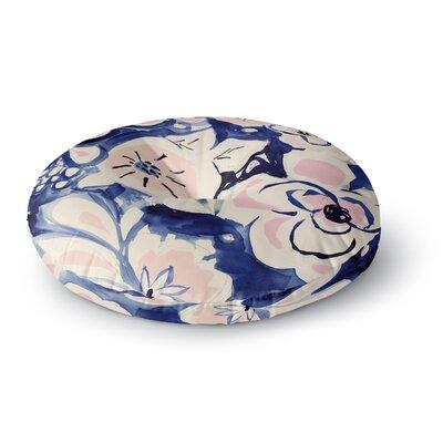 Crystal Walen Midnight Moon Flower Round Floor Pillow Size: 23 x 23