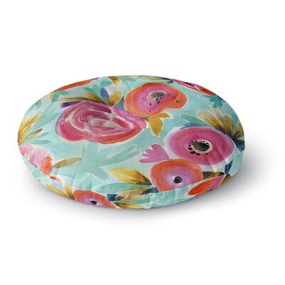 Crystal Walen Celestial Rain Flower Round Floor Pillow Size: 23 x 23