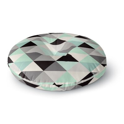 Crystal Walen Triangle Geo Round Floor Pillow Size: 23 x 23