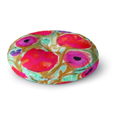 Crystal Walen Fiona Flower Round Floor Pillow Size: 23 x 23