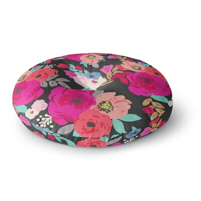 Crystal Walen Sweet Pea Floral Round Floor Pillow Size: 23 x 23