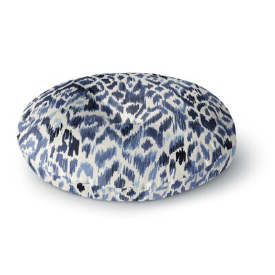 Crystal Walen Leopard Tribal Watercolor Round Floor Pillow Size: 26 x 26