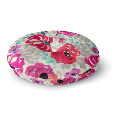 Crystal Walen Mona Brush Stroke Floral Painting Round Floor Pillow Size: 23 x 23