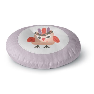 Daisy Beatrice Hipster Owlet Round Floor Pillow Size: 26 x 26