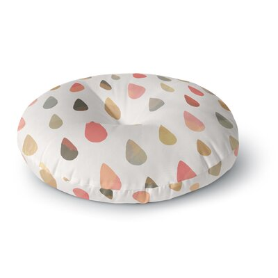 Daisy Beatrice Opal Drops Mist Round Floor Pillow Size: 23 x 23, Color: Pink/Orange