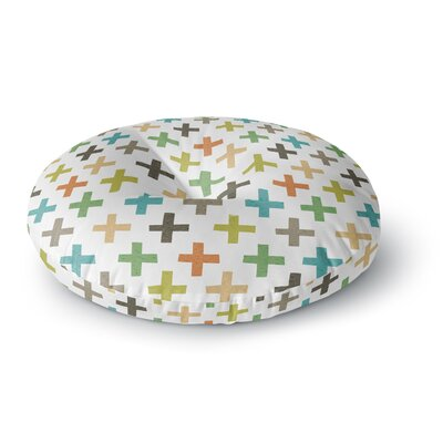 Daisy Beatrice Hipster Crosses Repeat Round Floor Pillow Size: 23 x 23