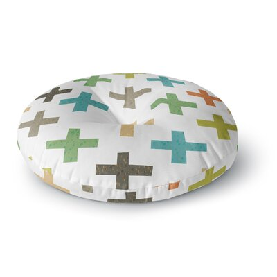 Daisy Beatrice Hipster Crosses Round Floor Pillow Size: 23 x 23