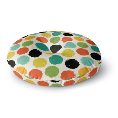 Daisy Beatrice Retro Dots Repeat Round Floor Pillow Size: 26 x 26