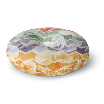 Daisy Beatrice Desert Dreams Chevron Round Floor Pillow Size: 26 x 26