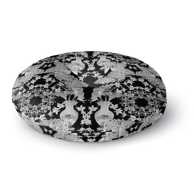 DLKG Design Versailles Round Floor Pillow Size: 26 x 26, Color: Black