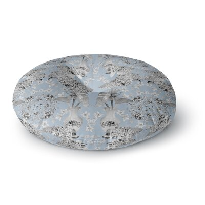 DLKG Design Versailles Round Floor Pillow Size: 26 x 26, Color: Blue