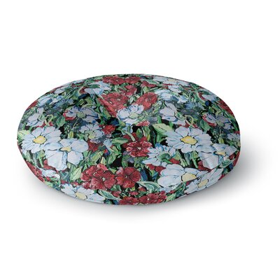 DLKG Design Giardino Garden Flowers Round Floor Pillow Size: 23 x 23