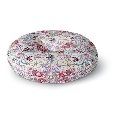 DLKG Design Cool Stitch Round Floor Pillow Size: 23 x 23