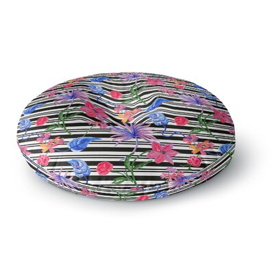 DLKG Design Flower Party Round Floor Pillow Size: 26 x 26