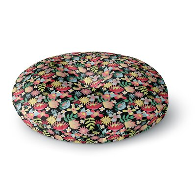 DLKG Design Flower Power Round Floor Pillow Size: 23 x 23