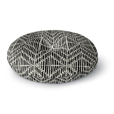 DLKG Design Tribal Drawings Chevron Round Floor Pillow Size: 23 x 23