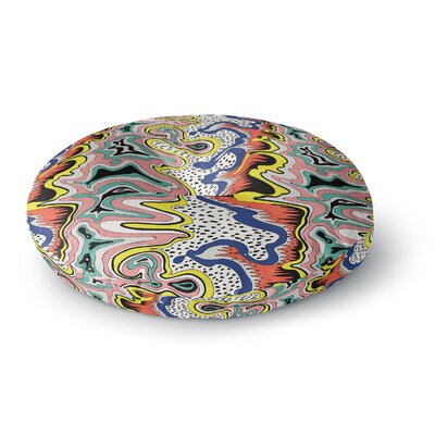 DLKG Design Modern Expression Abstract Illustration Round Floor Pillow Size: 23 x 23