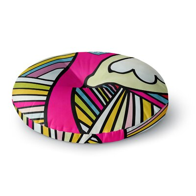 Danny Ivan Fake Colors Round Floor Pillow Size: 26 x 26