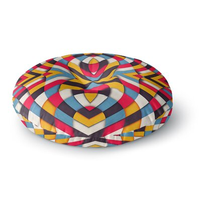 Danny Ivan Stained Glass Round Floor Pillow Size: 26 x 26