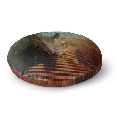 Danny Ivan Abstract Rhino Round Floor Pillow Size: 26 x 26