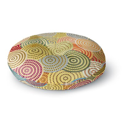 Danny Ivan Matias Girl Round Floor Pillow Size: 26 x 26