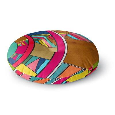 Danny Ivan Lov Pattern Round Floor Pillow Size: 23 x 23