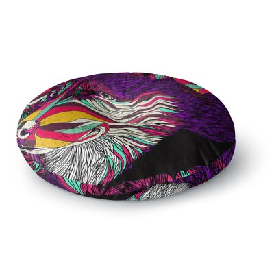 Danny Ivan Color Husky Round Floor Pillow Size: 26 x 26