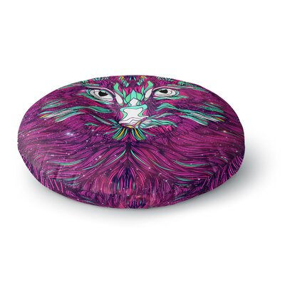 Danny Ivan Space Cat Round Floor Pillow Size: 26 x 26