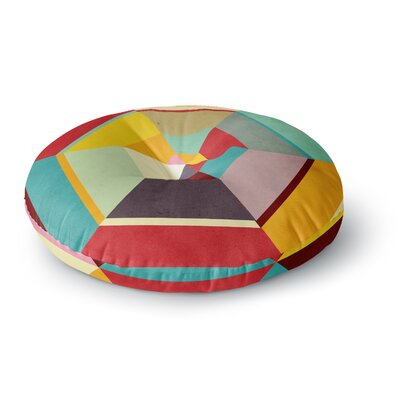 Danny Ivan Color Mess Round Floor Pillow Size: 23 x 23