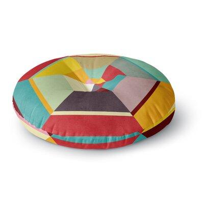 Danny Ivan Color Mess Round Floor Pillow Size: 26 x 26