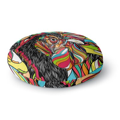 Danny Ivan Tropical Cock Round Floor Pillow Size: 26 x 26