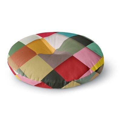 Danny Ivan Colorful Round Floor Pillow Size: 26 x 26