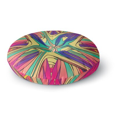 Danny Ivan Veins Rainbow Abstract Round Floor Pillow Size: 23 x 23