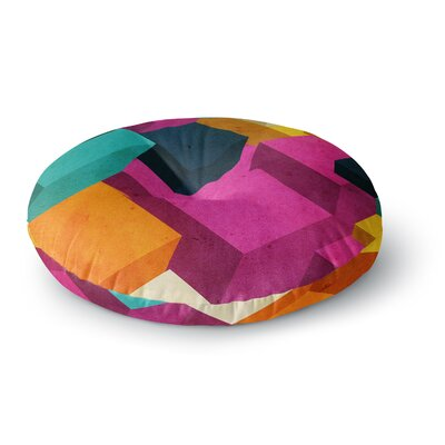 Danny Ivan Happy Cubes Round Floor Pillow Size: 23 x 23