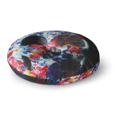 Danny Ivan Skull Light Round Floor Pillow Size: 26 x 26