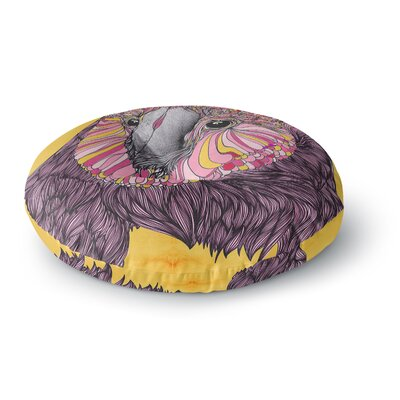 Danny Ivan Lovely Owl Round Floor Pillow Size: 23 x 23